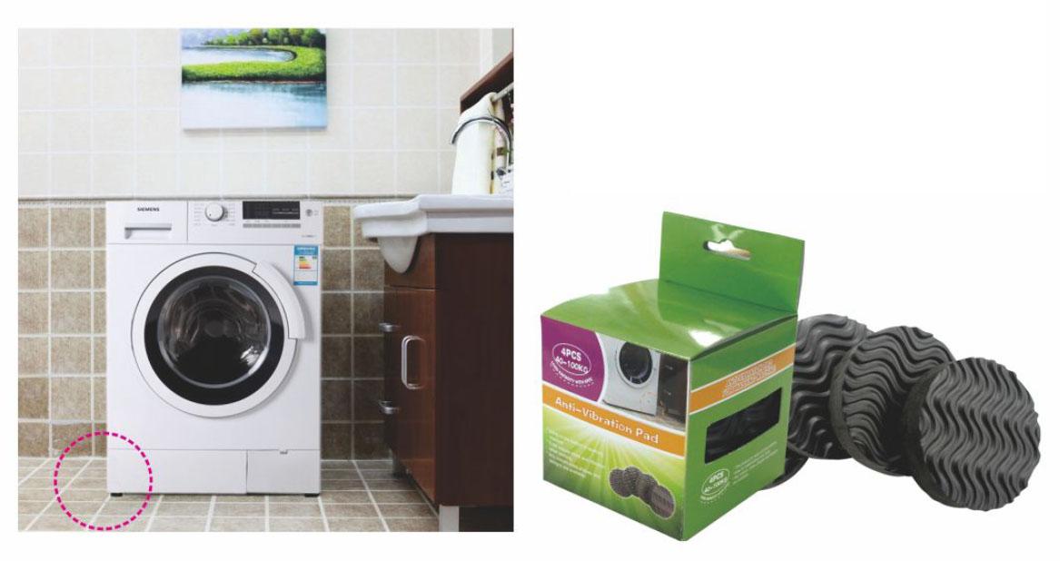 4x vibrationsd mpfer waschmaschine antivibrationsmatte antivibration schutzpad. Black Bedroom Furniture Sets. Home Design Ideas