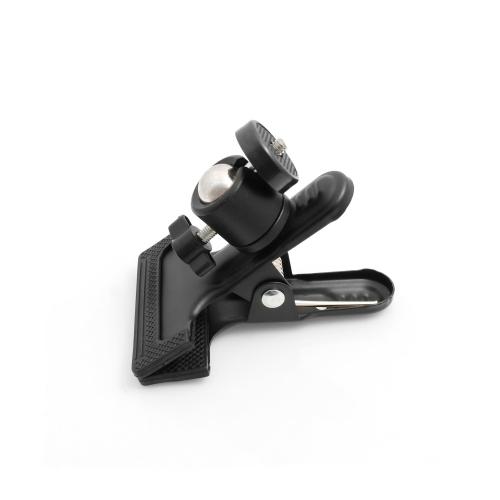 system s mini stativ klammer befestigung halter holder kugelkopfgelenk 360 rotation mit 1 4. Black Bedroom Furniture Sets. Home Design Ideas