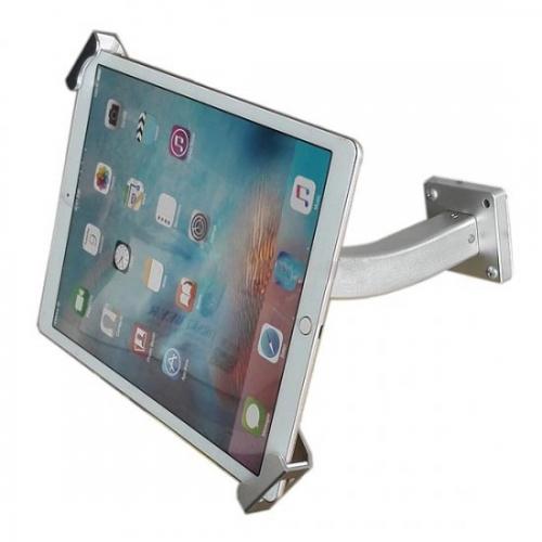 System s universal pr sentation wandhalter mit gebogenem haltearm abschlie bar wandhalterung f r - Wandhalterung fur tablet ...