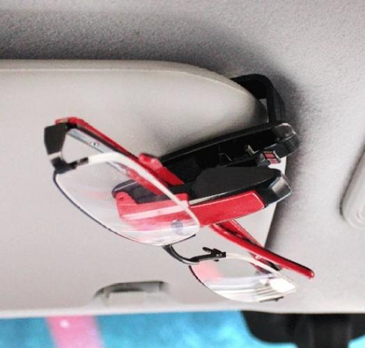 DESON Auto Brillenhalter Sonnenblende Brillenhalterung 2 STK Schwarz Leder Multifunktions Auto Sonnenbrillenhalter f/ür Sonnenblende Universal Auto Visier Sonnenbrille Halter Clip