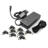 System-S slim universal Laptop AC Adapter multi purpose DC tips 5-24 V, USB DC 5V