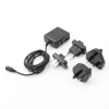 System-S Travel Charger US, UK, Euro and Australia Plugs for Nikon Coolpix Kamera