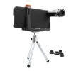 System-S 7-in-1 Combo fish eye telezoom 2X / 9X / 12X wide and micro 20X lens set with mini tripod for iPhone 6 Plus