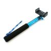Matin selfie stick monopod selfiepod 25cm - 100cm staff holder for Cameras and Smartphones (1/4 screw or adapter clip ca. 5,5cm-9cm) with non-slip grip blue