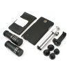 System-S lenskit set (20X microscope / wide angle 0.68X (+macro 1.25X) / fisheye / 2X / 9X / 12X telefoto) with mini-tripod and case cover  for Samsung Galaxy Note 4