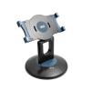 System-S adjustable 360° rotation desktop table stand holder foot 360° turn around for Tablet eBook 17 - 19,5 cm black