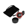 System-S Universal clip-on 0,4x wide angle lens for Smartphone Tablet PC in red