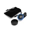 System-S Universal clip-on 0,4x wide angle lens for Smartphone Tablet PC in blue