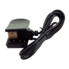 System-S USB Charger Clip Cradle Dock for Garmin Approach S1 Forerunner 210 110