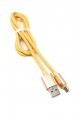 System-S USB Kabel Typ Micro zu Typ A 90 cm Goldfarben High-Speed Quick Charge 6.5A (Max)