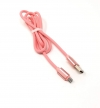System-S USB Kabel Typ Micro zu Typ A 90 cm rosa High-Speed Quick Charge 6.5A (Max)