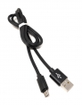 System-S USB Kabel Typ Micro zu Typ A 90 cm schwarz High-Speed Quick Charge 6.5A (Max)
