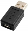 System-S OTG Adapter USB A Male zu Micro USB Female Stecker 2.0